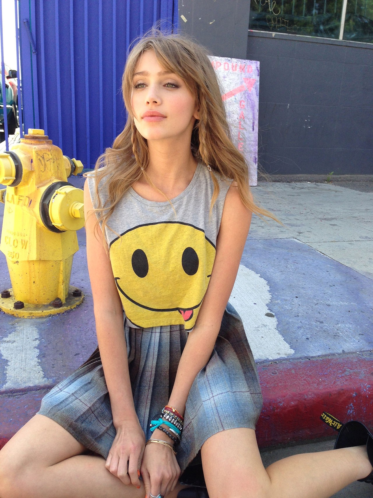 Cailin Russo In Smiley Tee