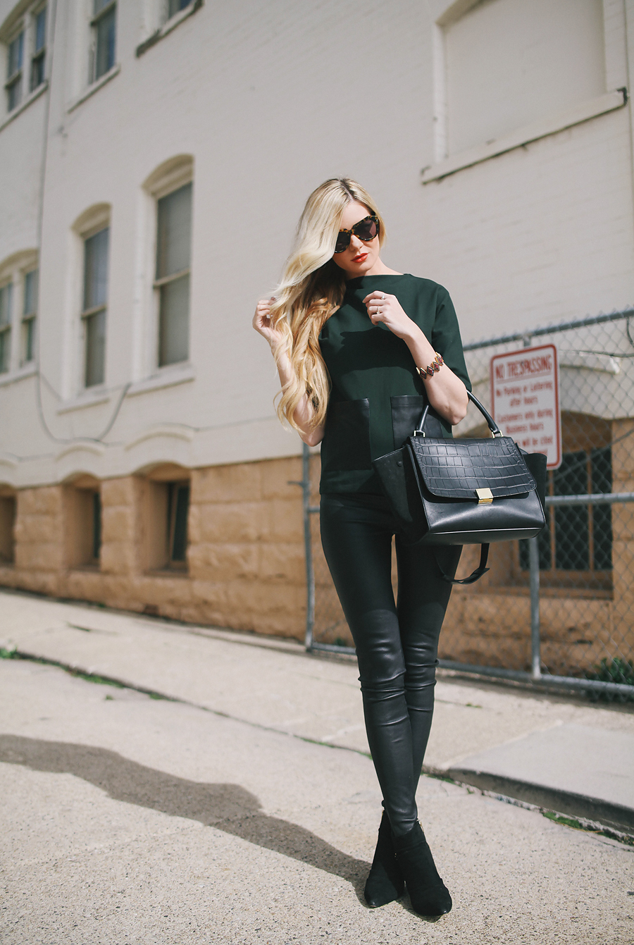 Leather Leggings, The Trend Continues In 2014 - Just The Design