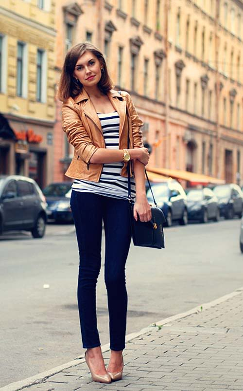 fabulous light tan leather jacket outfits women