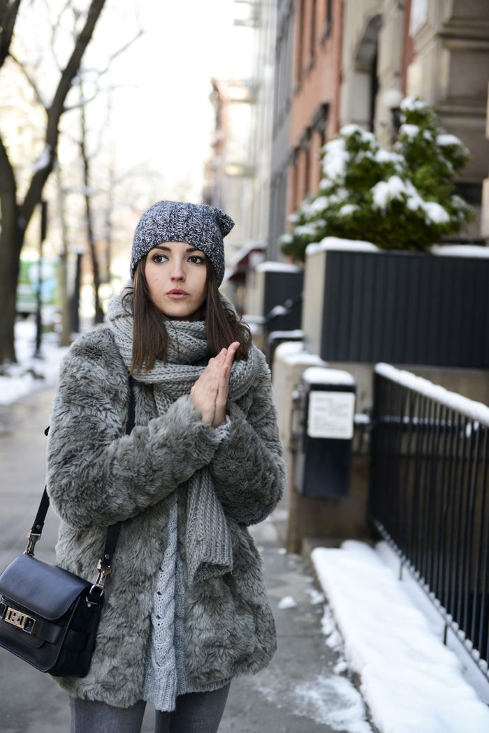 Grey Tones Street Style March 8th Coat Lovely Pepa In New York for Alex and Ani