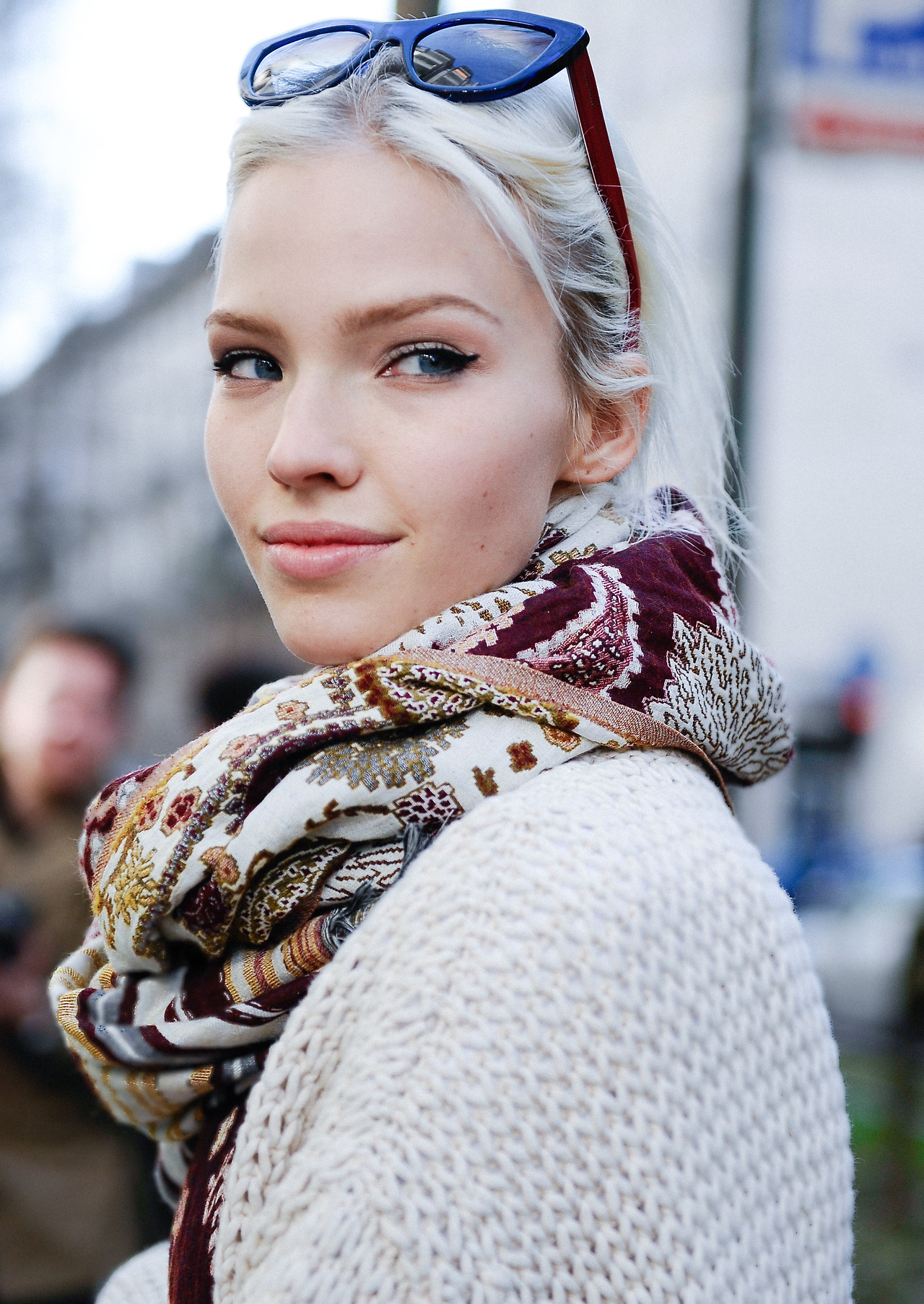 Model Sasha Luss Street Style Photography By Giacomo Cabrini