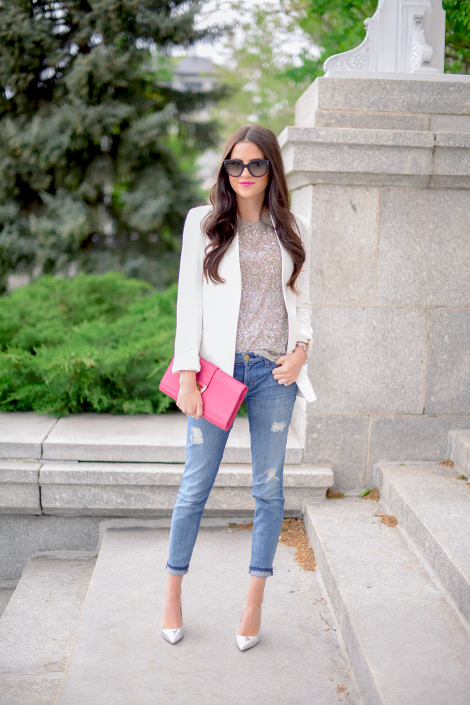 what to wear with white shrug