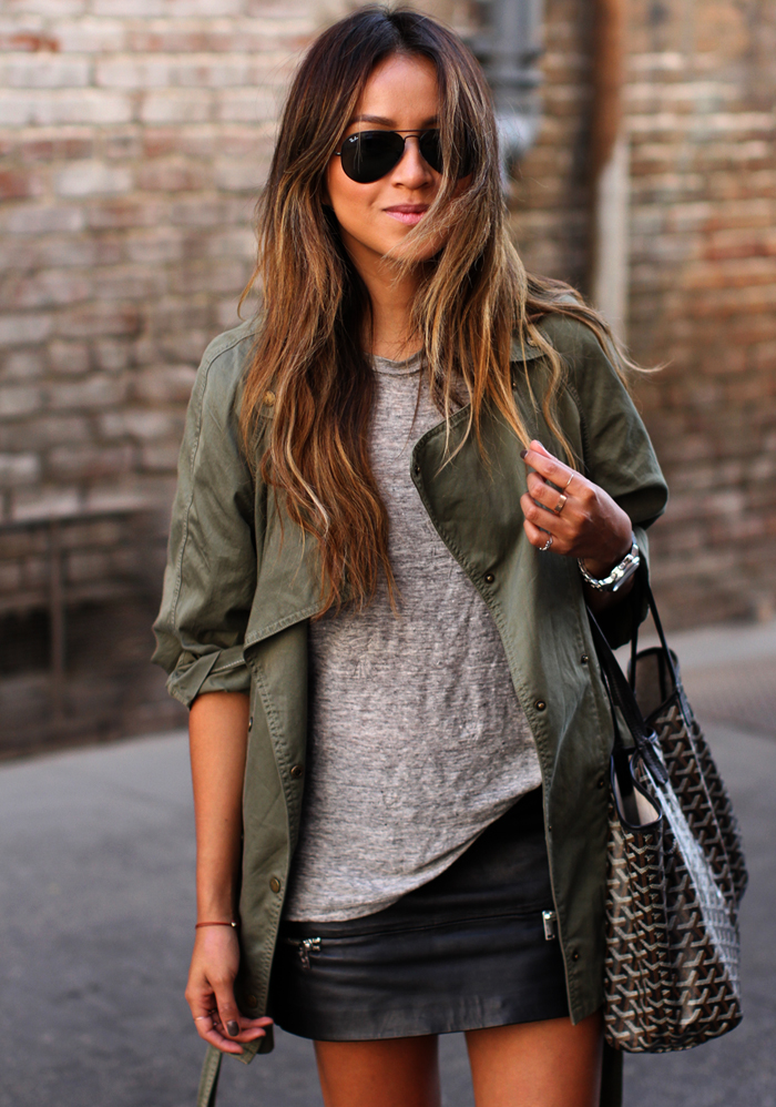 What To Wear With A Leather Mini Skirt