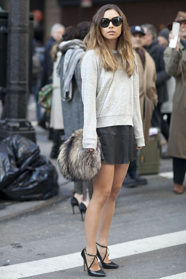 Style Staple: The Leather Mini Skirt - Just The Design