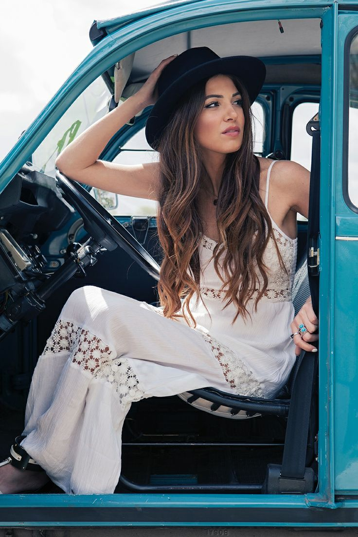 Negin Mirsalehi Is Wearing A Maxi Dress With Crochet Details From Abercrombie & Fitch