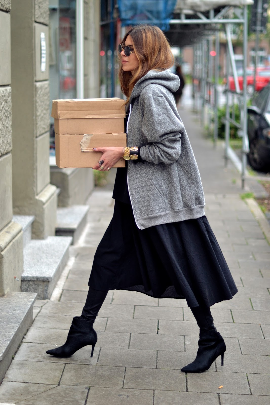 Maj Wyh Is Wearing Hoodie From Paul Richard By W Concept And The Dress Is Kowtow By W Concepy