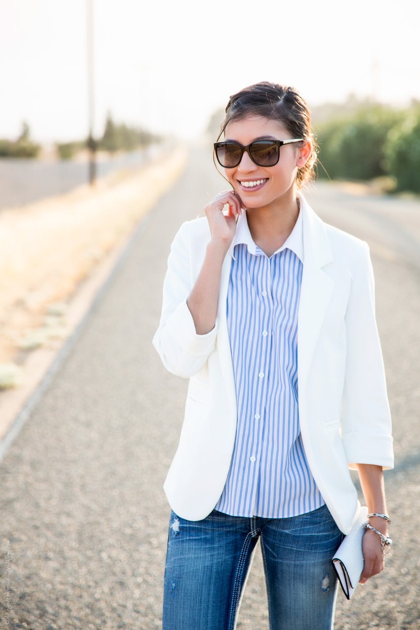 Spring Style Staple: Women's White Blazer - Just The Design