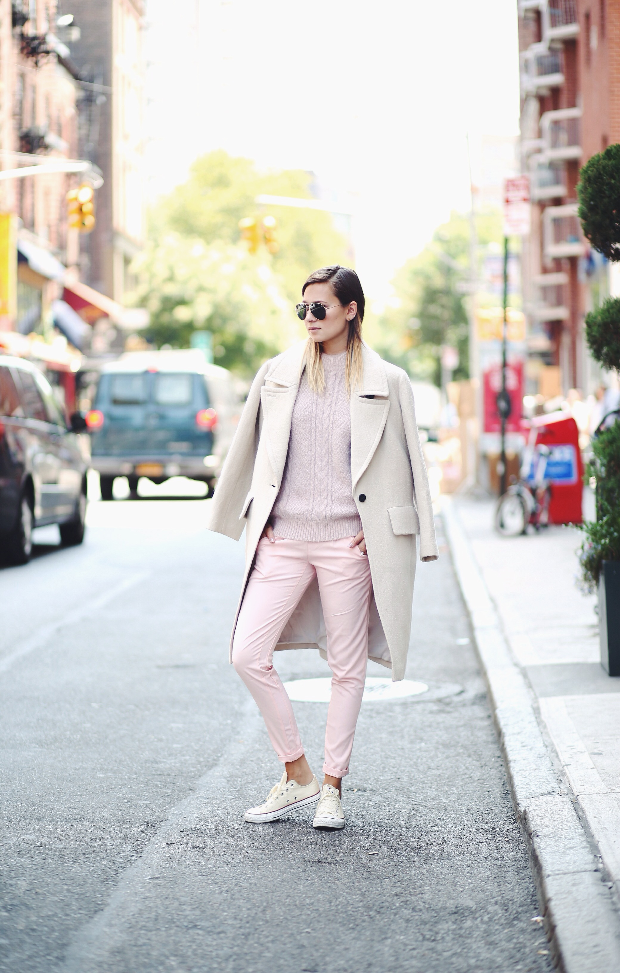 Danielle Bernstein is wearing a pastels street style August 2014