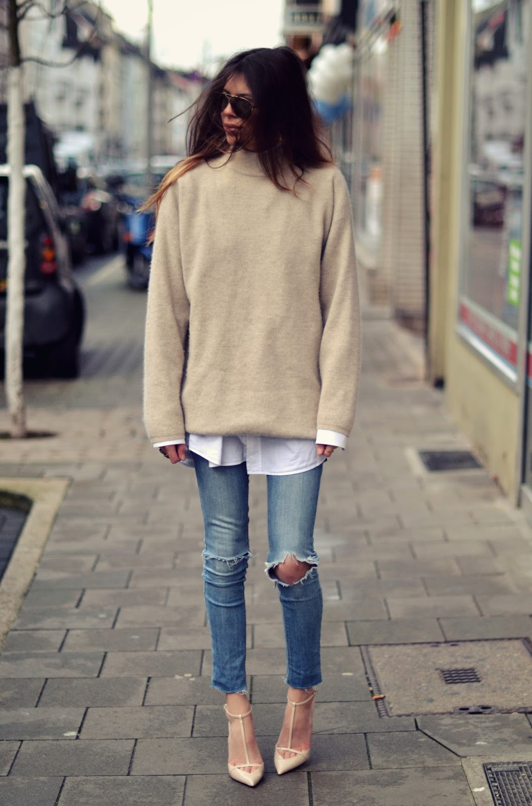 extraordinary oversized jeans outfit wear
