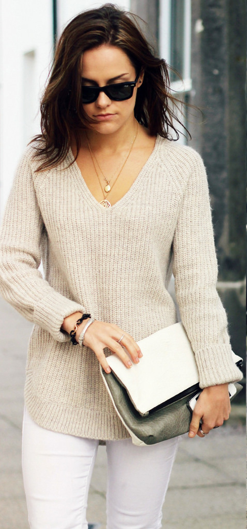 5c8d28c7d98827 Deep V Neck Sweater Fall Trend.... Outfits We d Wear - Just The Design