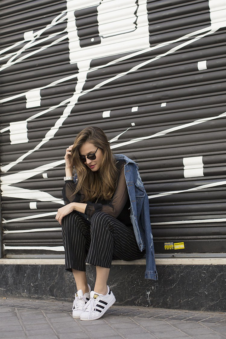cool pinstripe outfits for fall we love just the design