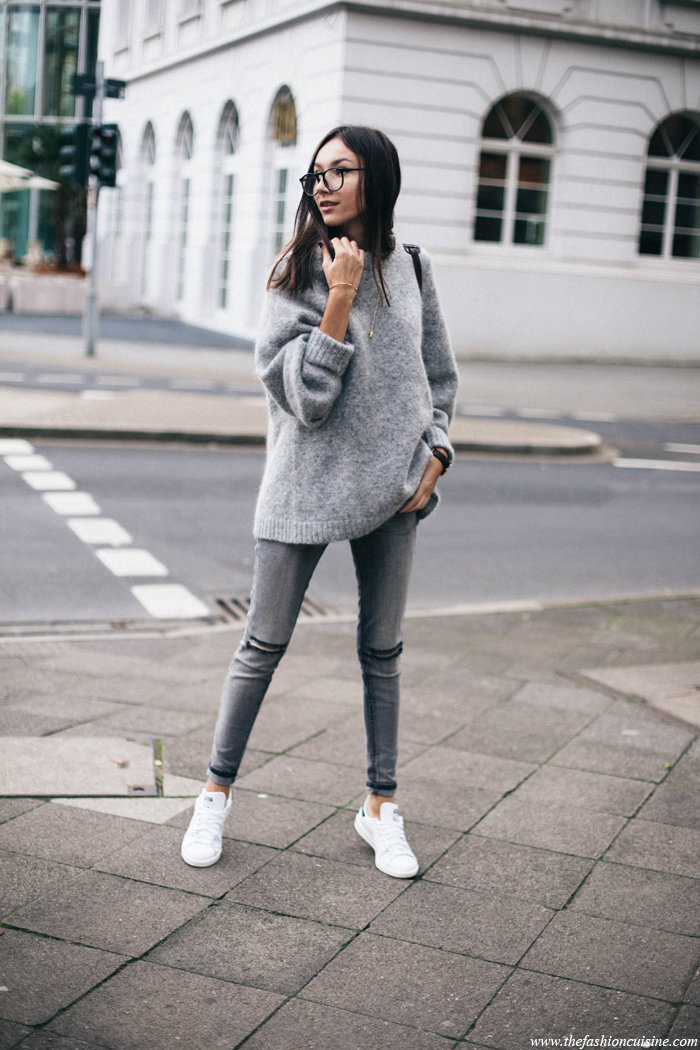 Grey Knitwear Layers Outfits Is A