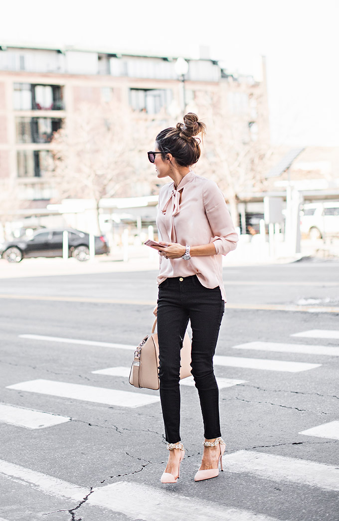 gorgeous blush sneakers outfit 9
