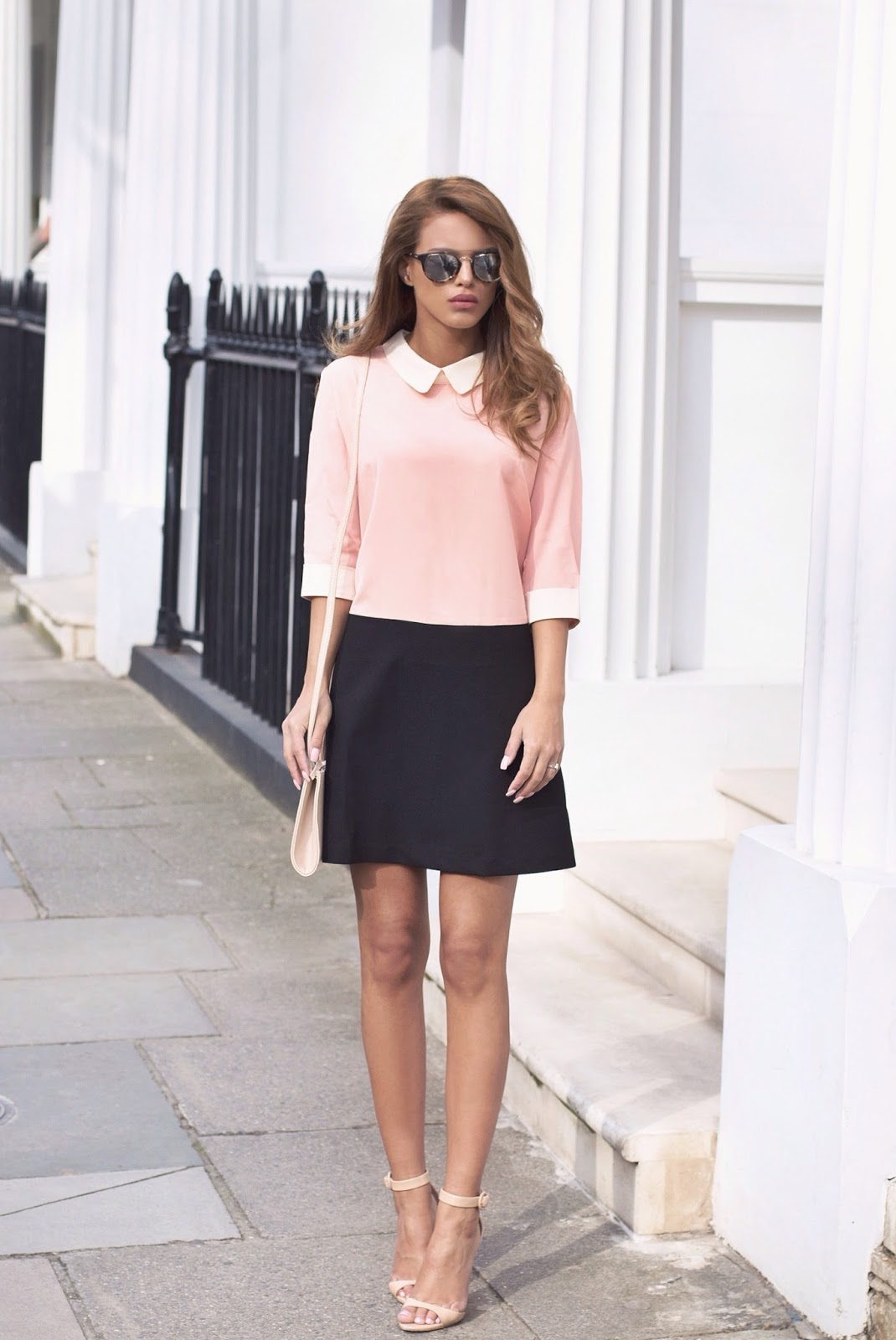 0a90cbce609e Nada Adelle is showing off the blush pink fashion trend with a Lia blush  pink and