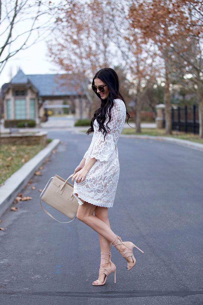 How To Wear A Lace Dress This Is How It S Done Just