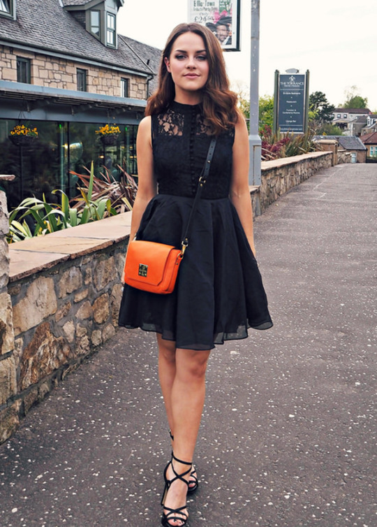 Dressing up a black lace dress
