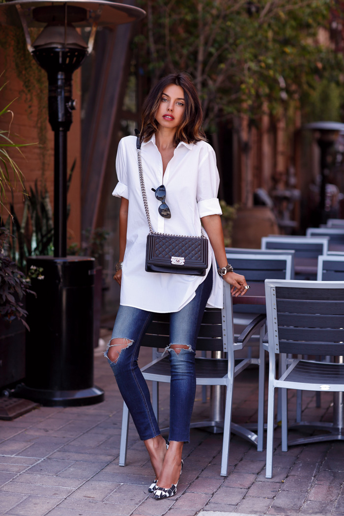 Cute Outfits With White Shirt Casual Outfit White Shirt