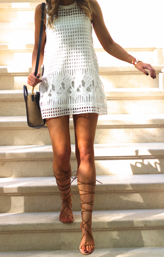 Designer Lace up Sandals And Beige Lace up Sandals
