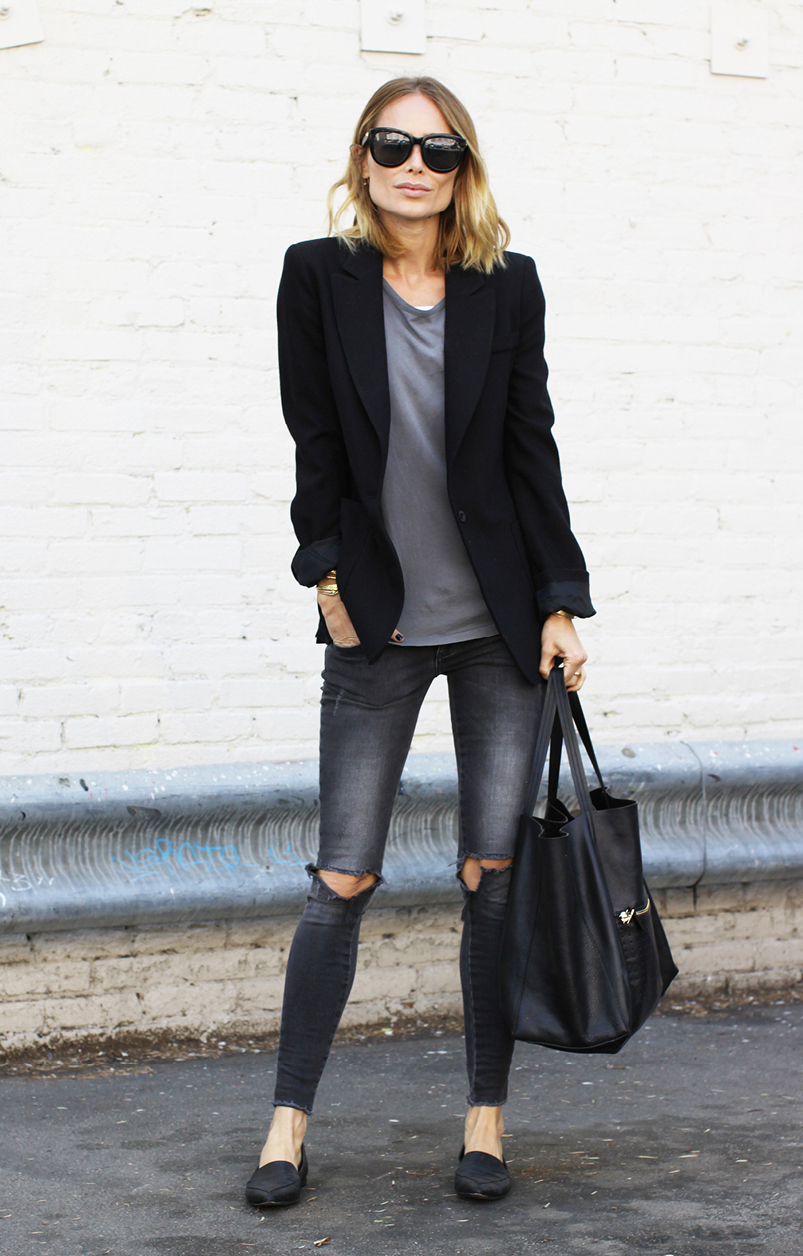 How To Style Your Blazer And Jeans Tips For Girls Just The Design