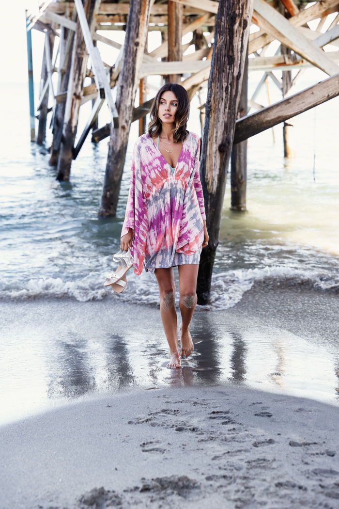 8aeefc5c7c Bring back the sixties with this tie dye dress over your favourite bikini!  Via Annabelle Fleur