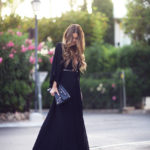 Keeping it simple and sophisticated in all-black maxi dress, clutch and shoes. ViaAnnette Haga Dress: H&M,Clutch: Balenciaga,Shoes: Steve Madden.How To Wear A Maxi Dress