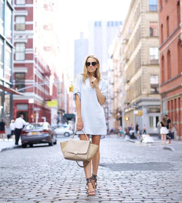 Simplicity Is Often Best Try This White Shirt Dress And Sandals For A Sophisticated Look Via Lisa D Cahue