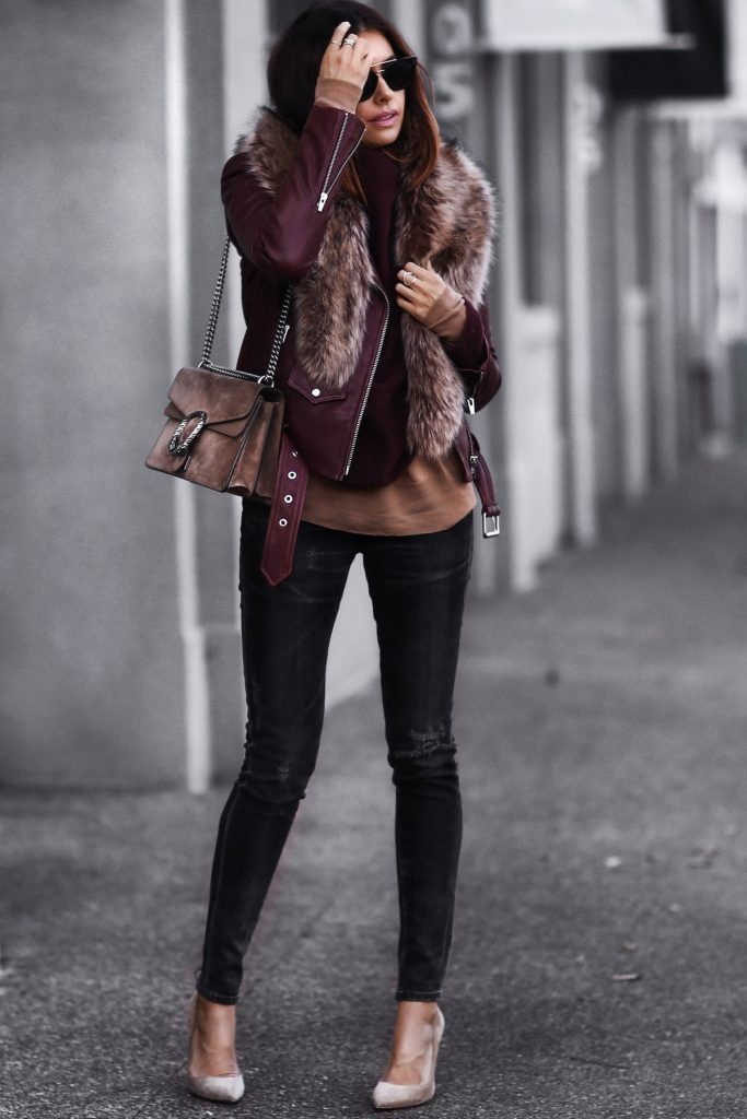 How To Wear A Faux Fur Stole Or Faux Fur Collar Coat In Winter - Outfits U0026 Ideas - Just The Design