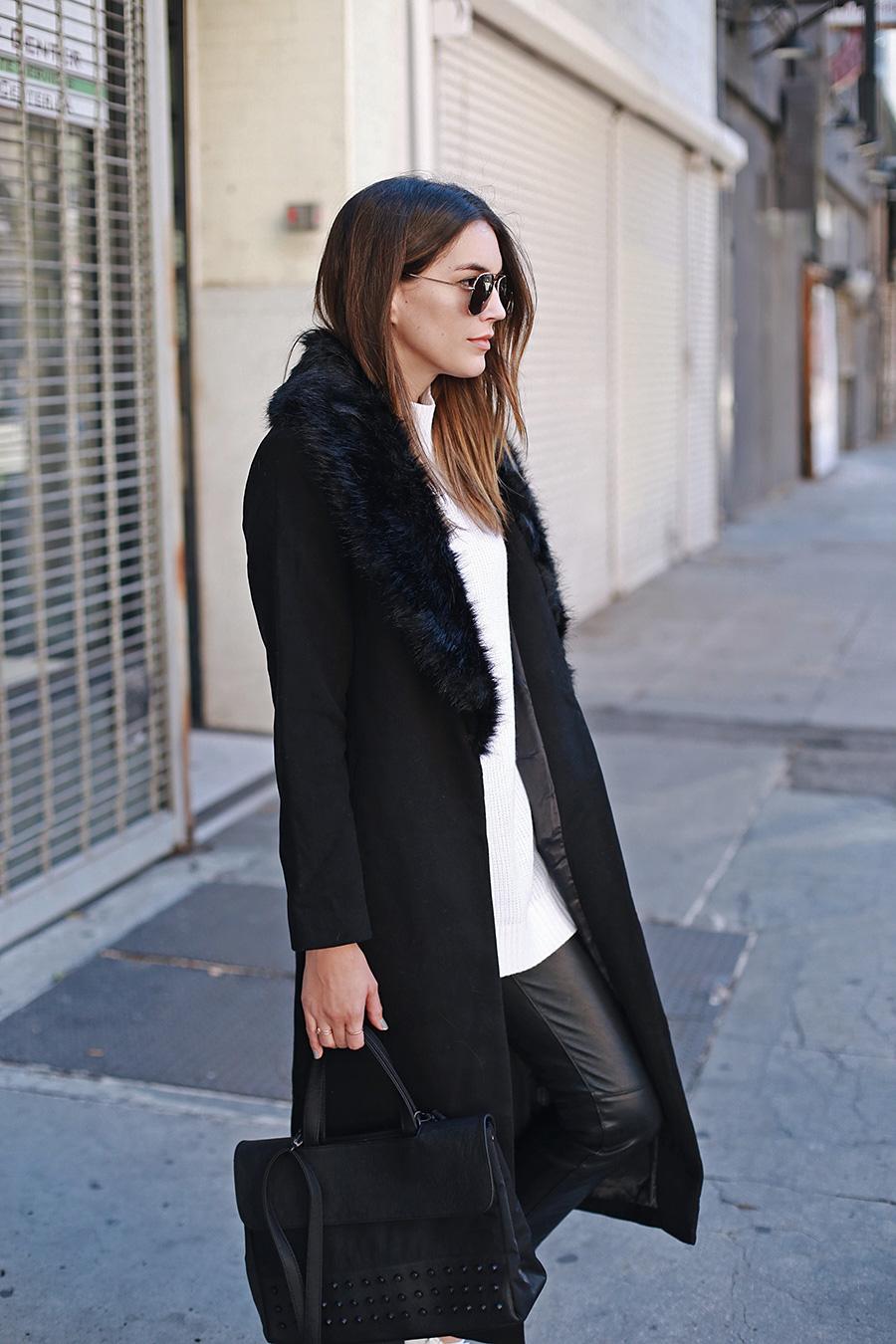 How To Wear A Faux Fur Stole Or Faux Fur Collar Coat In Winter