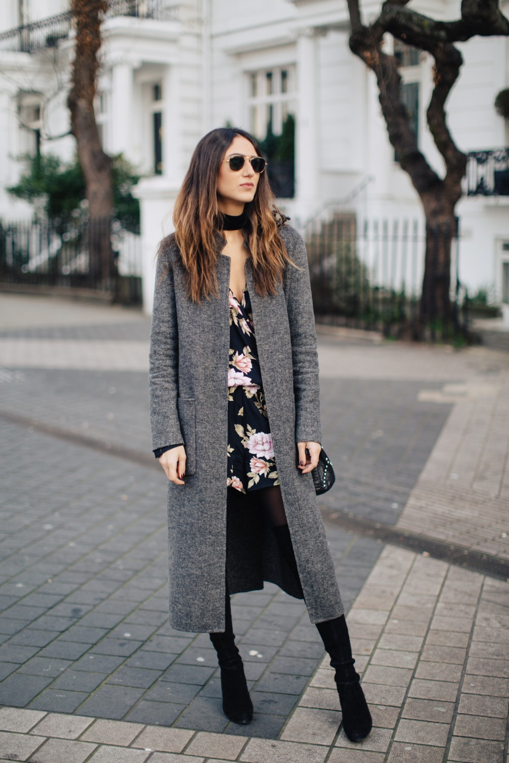 We love this floral playsuit from Blue Life, worn by Soraya Bakhtiar with a simplistic grey overcoat and paired with over the knee boots! Floral prints are always a winner, we suggest you get yours ready! Coat: Zara, Playsuit: Blue Life, Bag: Helmer, Boots: Stuart Weitzman.