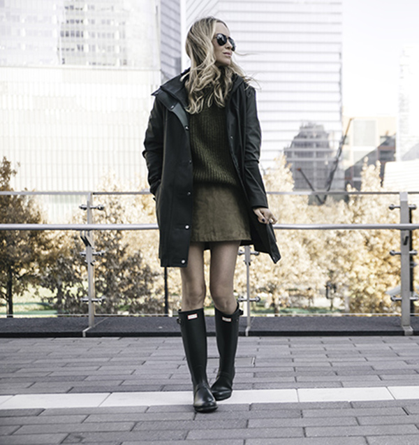 How To Style And Wear Hunter Boots - Just The Design