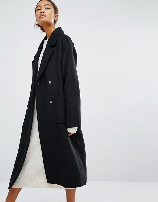 Double Breasted Over Coat From Monki
