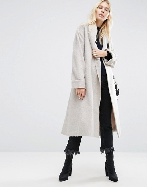 Coat In Soft Texture With Belt From ASOS