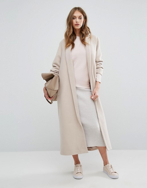 Shawl Collar Robe Maxi Coat From Missguided
