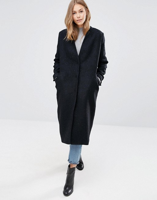 Oversized Coat In Textured Fabric From ASOS