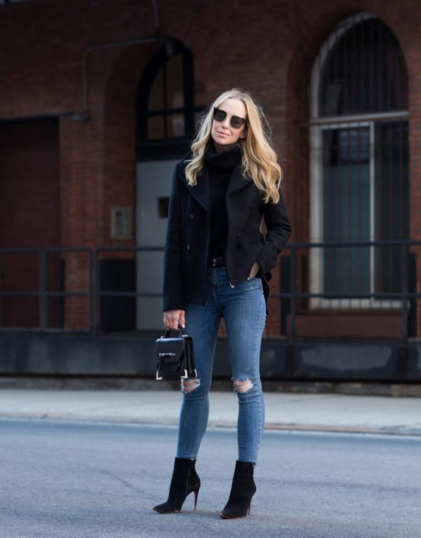 Helena Glazer Keeps It Striking And Simple Here In A Double Ted Navy Coat