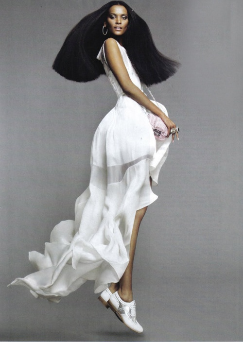 White Dress Bu Clothing Designer Liya Kebede