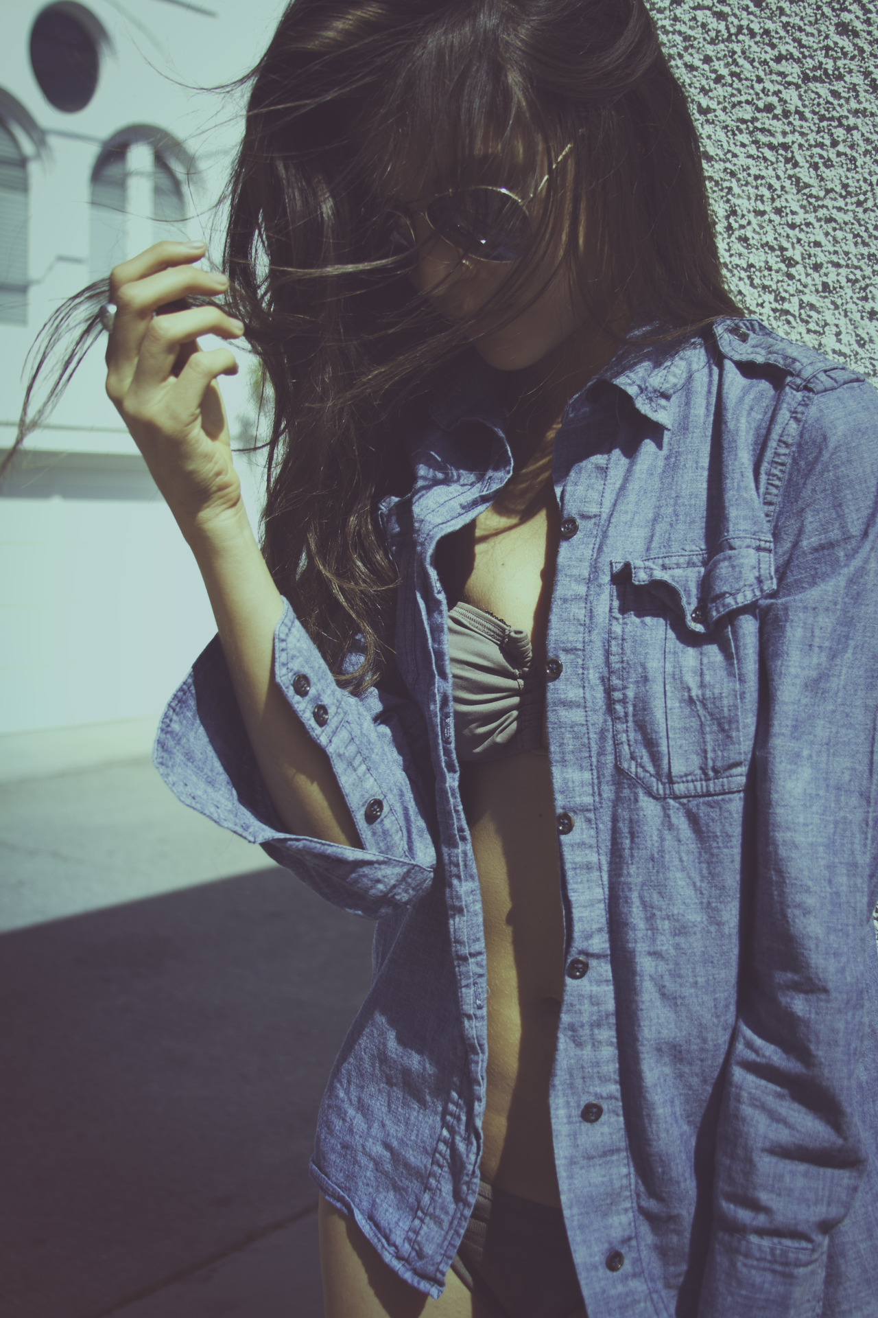 Denim Shirt Beachwear/Swimwear Via Mira