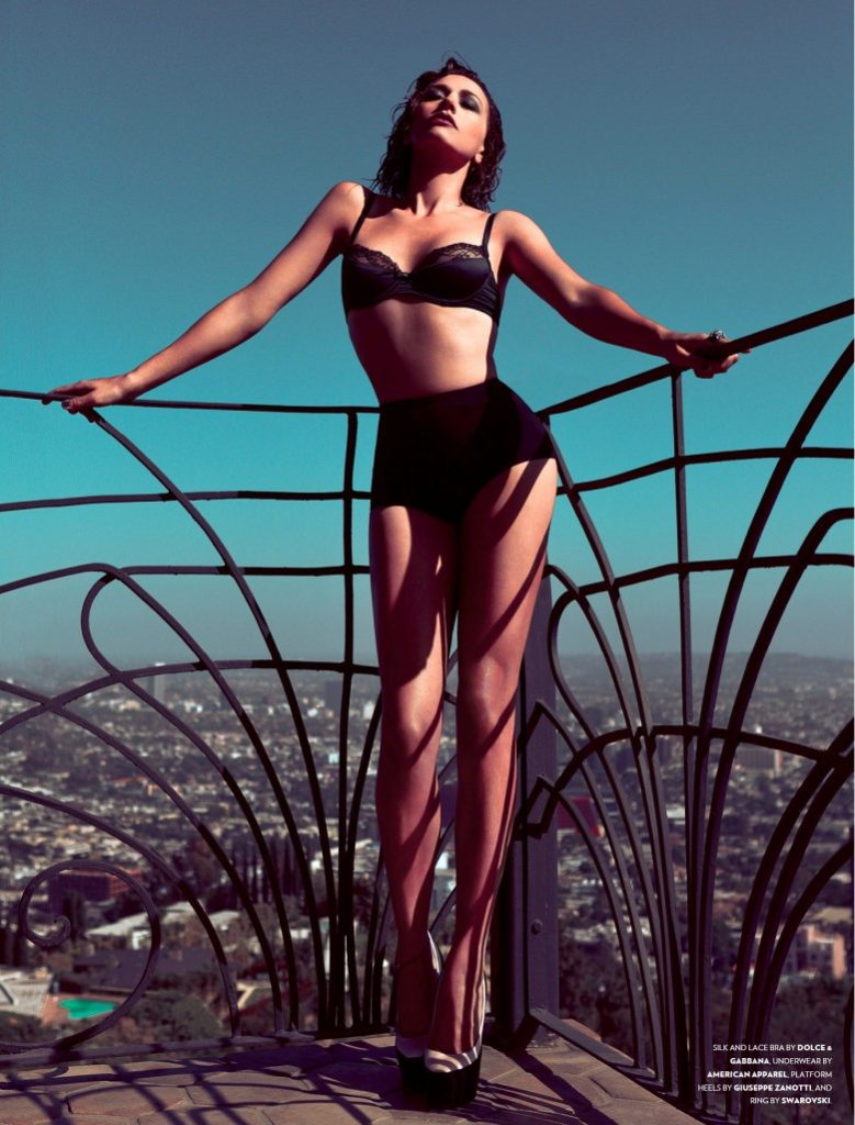 D&G Silk And Lace Lingerie Modelled By Rashida Jones