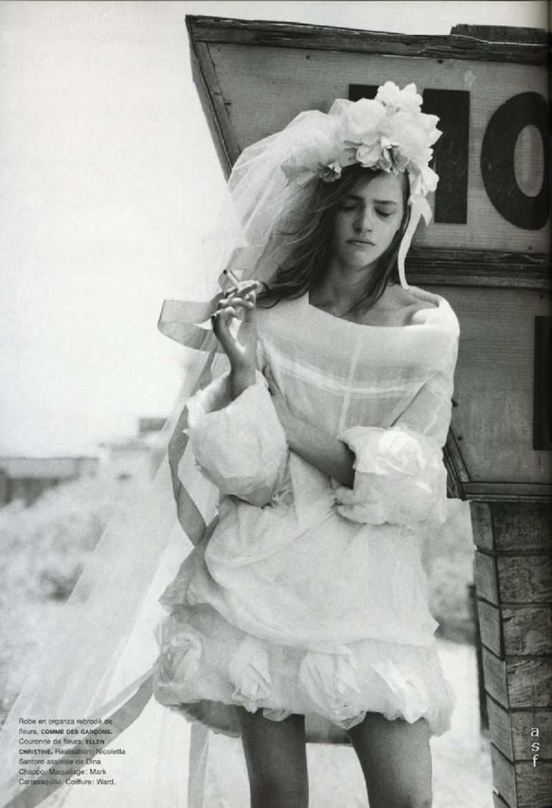 Make The Wrong Choice At The Altar? Wedding Dress By Commes Des Garcon Via Numero