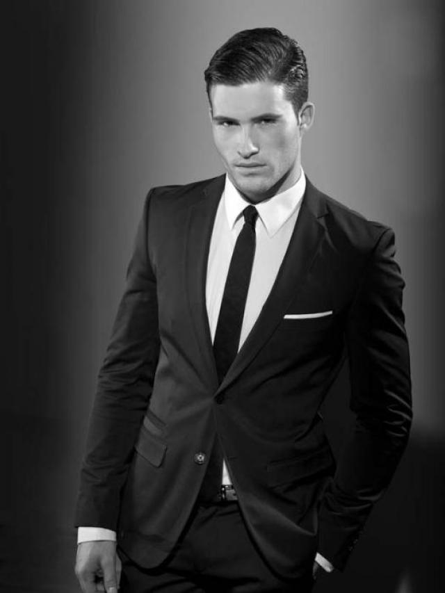 Model Arthur Keller In Yves Saint Laurent Suit