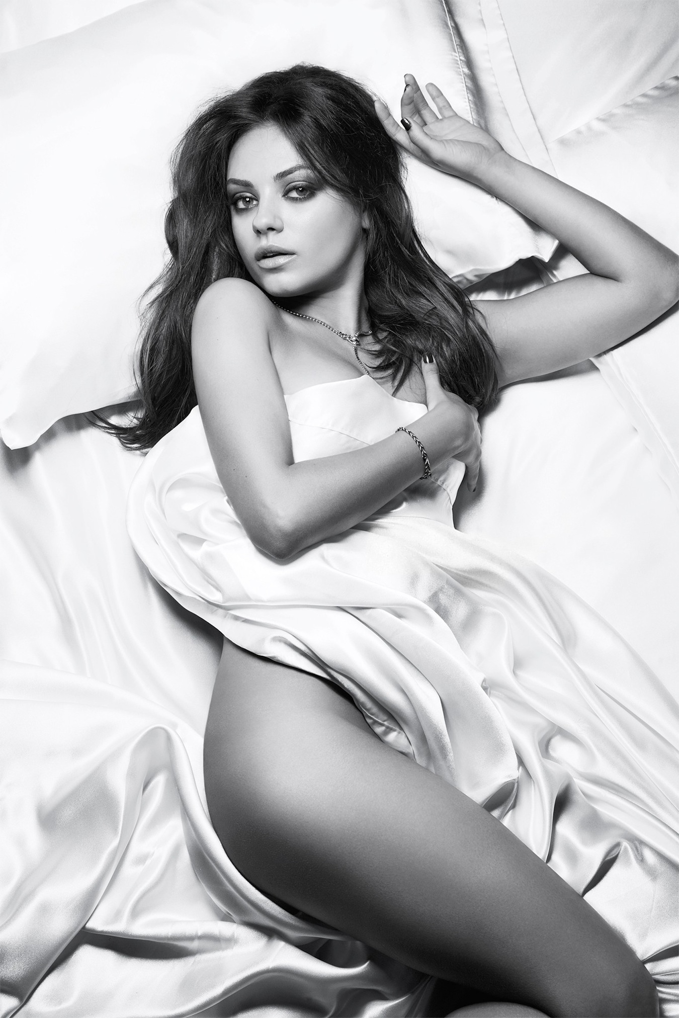 Mila Wears Nothing For As A Night Gown