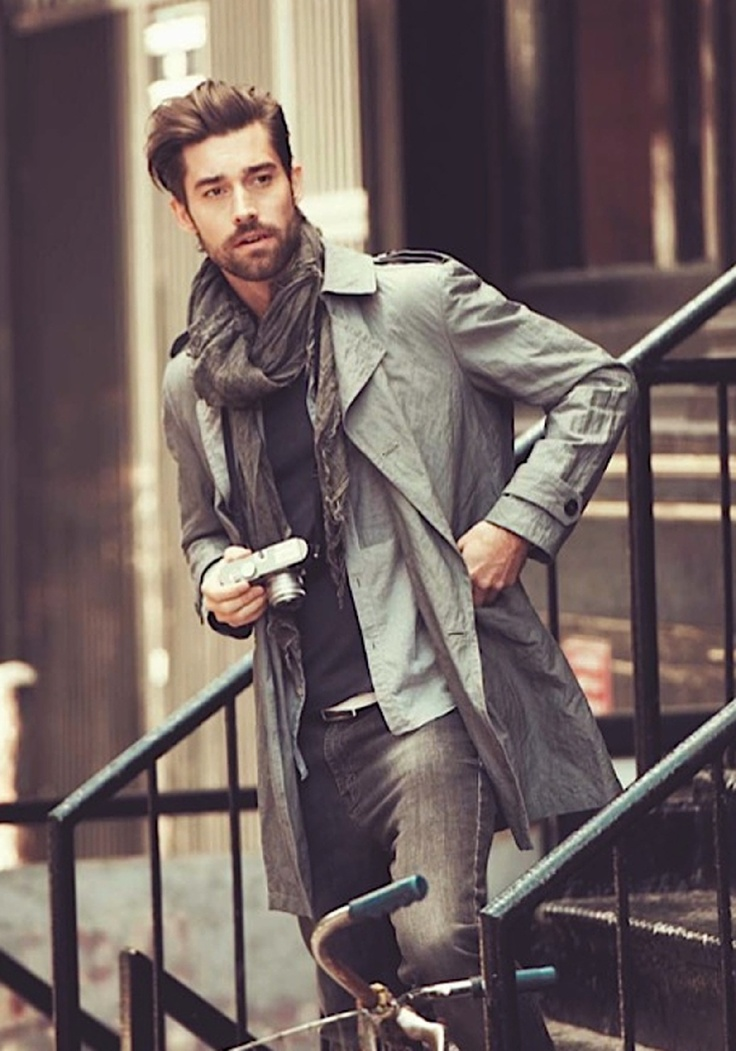 Mens Coat Fashion Model