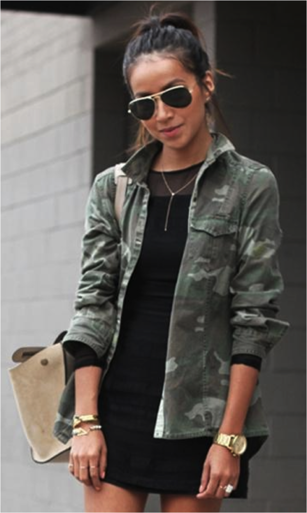 Camouflage Look Street Style Coat