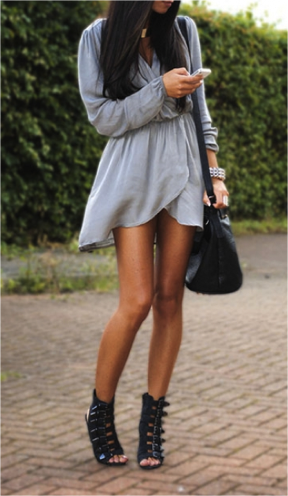 Grey Evening Dress From Ladies It is Fashion Time