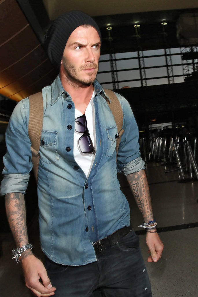 David Beckham Fashion Photography