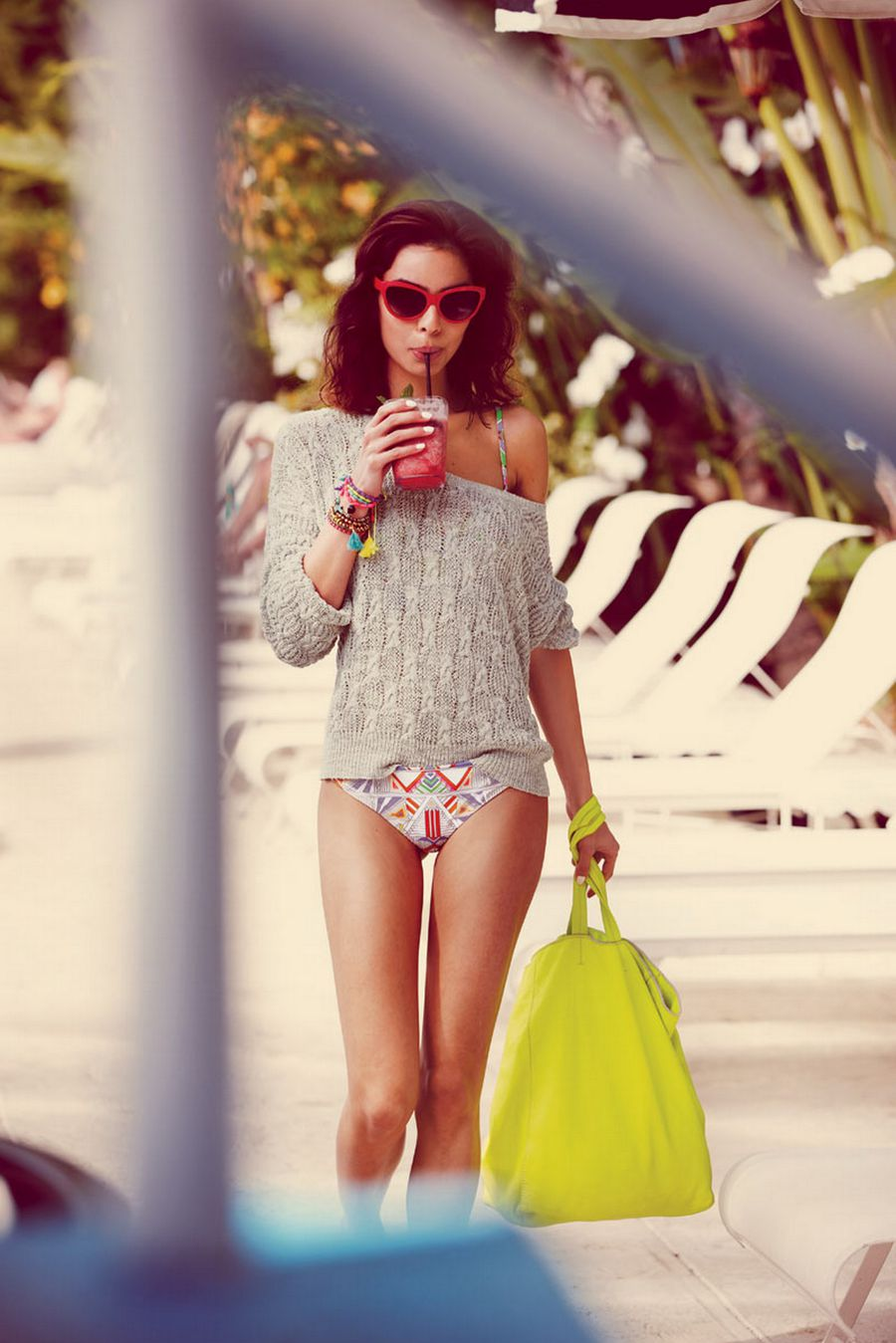 Nicole Trunfio Perfectly Dressed For The Beach By The Free People
