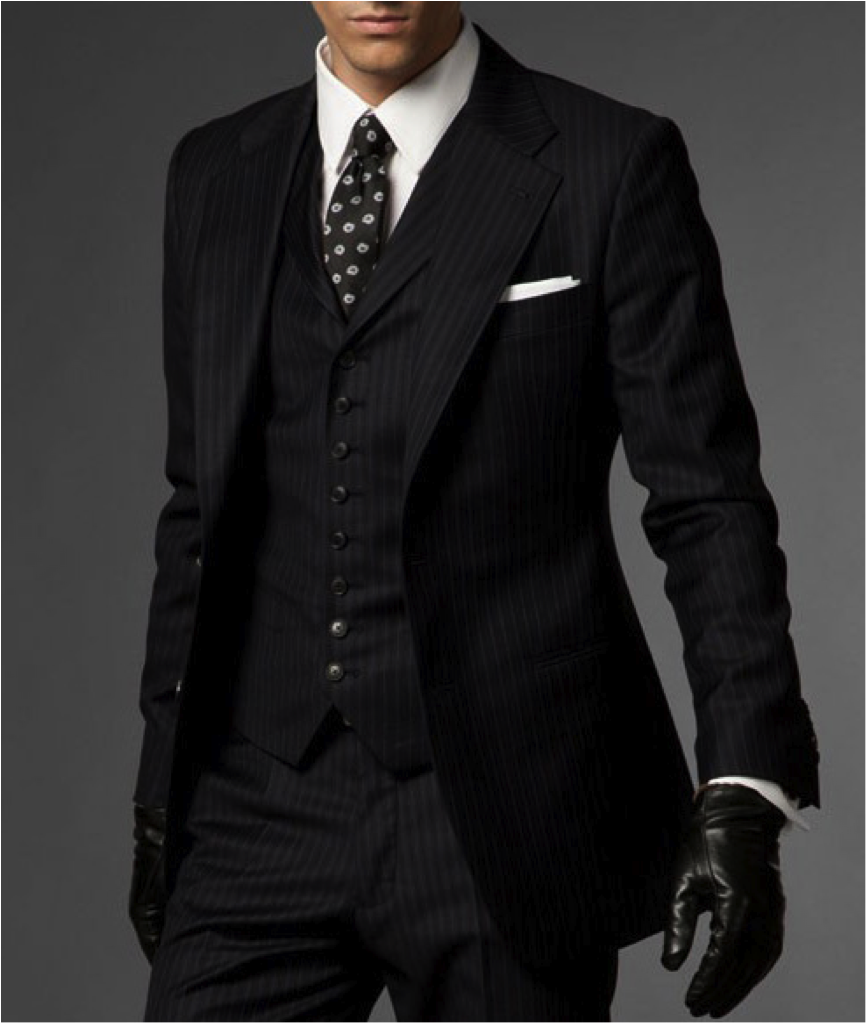 The Hedonist Navy Three-Piece Suit