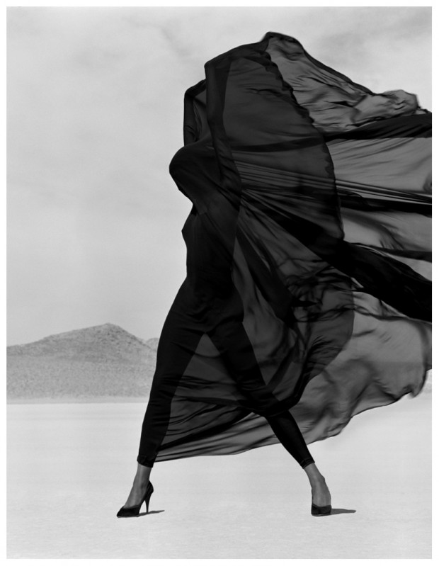 Versace Veiled Dress, El Mirage, 1990