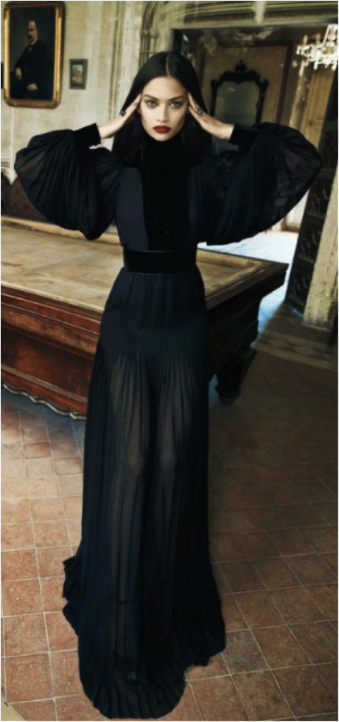 Morticia Dress Look By Gucci