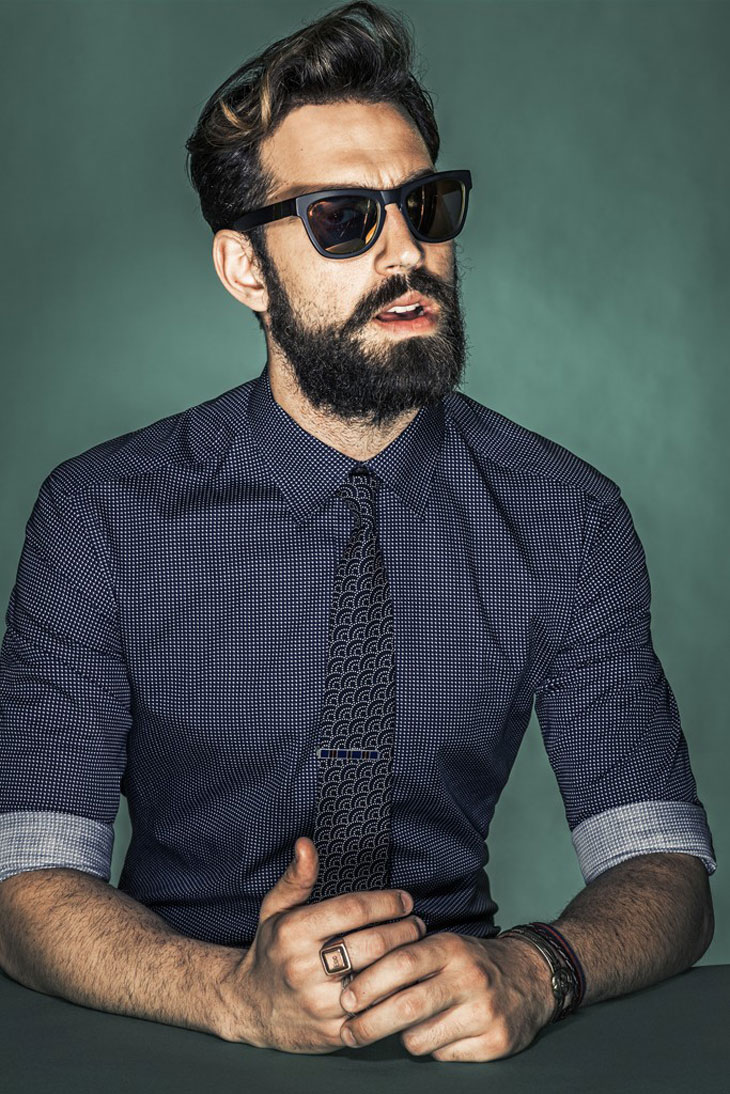 Model Ilias Petrakis by Rodolfo Martinez Wears Shirt And Tie For WWD